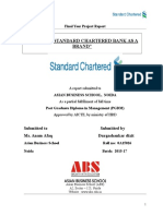Study of Standard Chartered Bank as a Brand