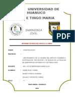 Informe Técnico - UNAS
