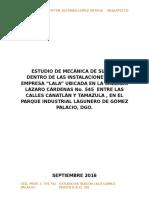 Estudio de Suelos Lala, Gomez Palacio.