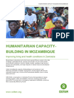 Humanitarian capacity-building in Mozambique