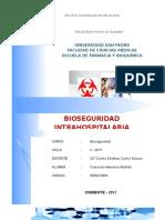 Bioseguridad intrahospitalaria