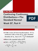 Week 07 Standard Normal