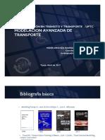 Modelación Avanzada de Transporte - Sesión 1