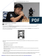 How to Study Master Chess Games - Chess