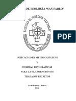 Indicaciones Metodológicas