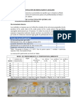 Presentación de Resultados sobre penetracion de calor en productos y inactivacion de enzimas con sus respectivos  Analisis