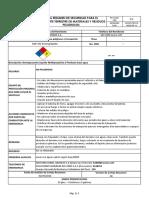 Hoja Resumen de Seg. SQP-152 Desengrasante