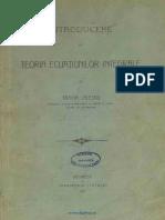 Traian Lalescu - Introducere La Teoria Ecuațiunilor Integrale [1911].pdf