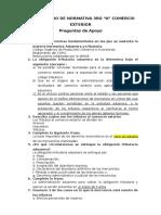 Cuestionario de Normativa 3ro