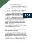 Key Provisions of Budget 2o14