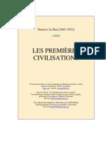 Gustave Le Bon - LES PREMIÈRES CIVILISATIONS.pdf