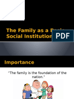 The Family as a Basic Social Institution