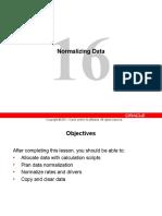 16 Normalizing Data