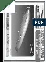 [Paper Model] - [Schreiber Bogen] - Airship D-Lz 127 Graf Zeppelin
