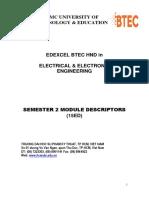 Modules Descriptor S2 - EEE_15ED