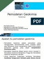Pemodelan Geokimia