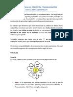 TRUCOS PARA LA CORRECTA PRONUNCIACIÓN DE PALABRAS EN INGLÉS
