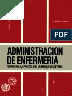 Administracion de Enfermeria Teoria Para La Practica Con Un Enfoque de Sistems