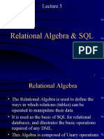 Lecture5 Relational Algebra and SQL