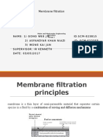 Membrane filteration