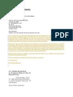 Contoh Surat Inquiry
