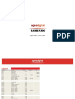 Tarifario  Publicitario Clarín Online 2017