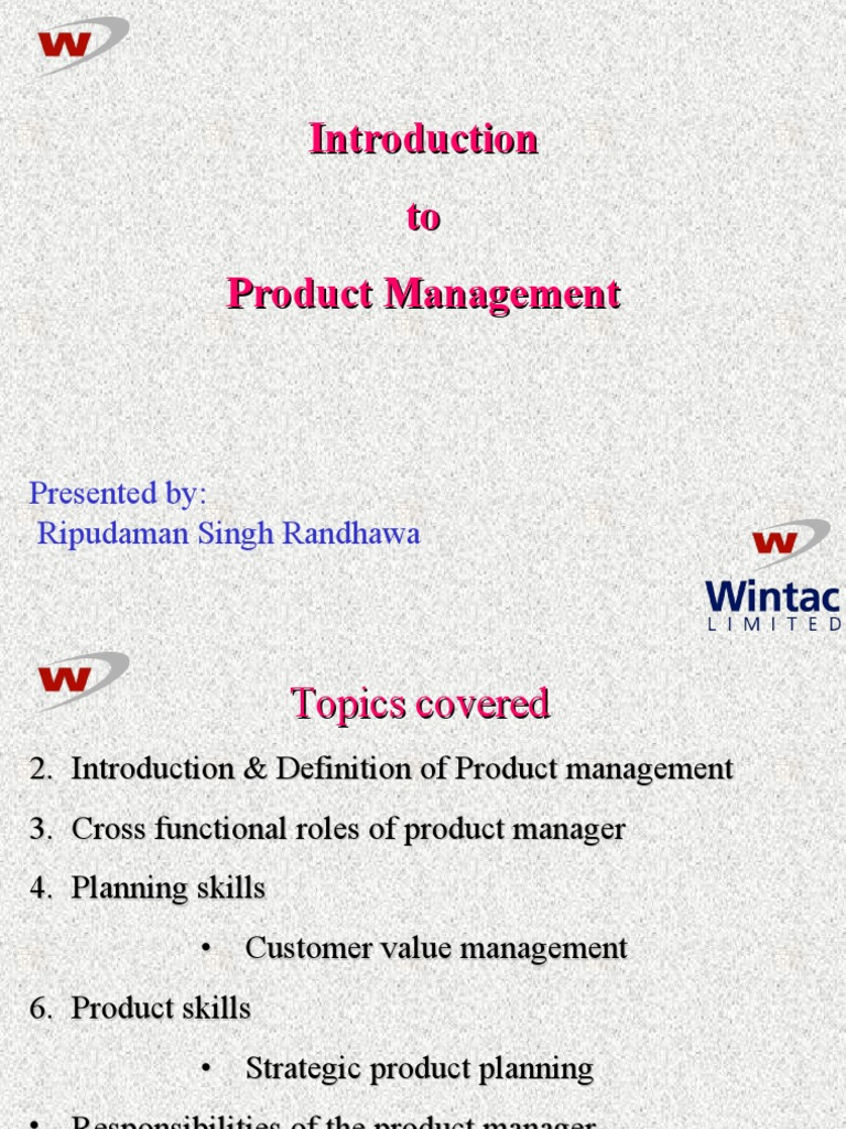 an overview of product management | sales | product (business)