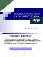ROL DEL PSICÓLOGO EN LA CALIDAD EDUCATIVA