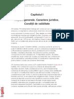 Capitolul I Notiuni Generale Caractere Juridice Conditii de Validitate