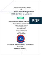 Performance Appraisal System of RSHR Services at Lucknow - Laxmi