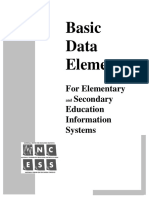 Basic Data Elements - For Elementary and Secondary Education Information Systems
