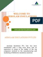 Aerolam insulations | Insulation Material Manufacturer
