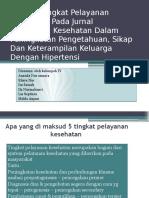Ppt. Ananlisis Tingkat Pelayanan Kesehatan Pada Jurnal