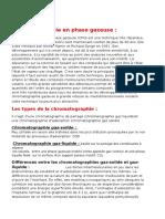 Chromatographie en Phase Gazeuse