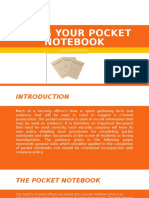 using your pocket notebook