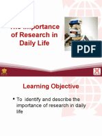1 the Importance of Research in Daily Life