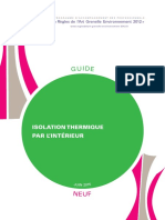 Guide Rage Isolation Thermique Interieur Neuf 2015 06