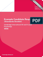 9698 Psychology Example Candidate Responses Booklet 2013