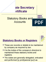 Statutory Books and Accounts for CSC students - Malaysia
