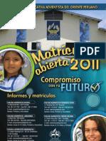 Volante Matricula 2011