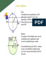 Resumo Do Ciclo Trigonométricas Slides