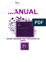 Manual Adobe Premiere Cs6