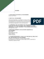 cuestionario psicodrama