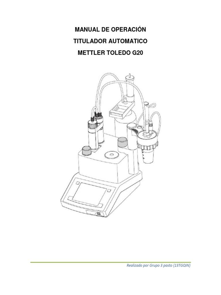 Manual de Operación Titulador Mettler Toledo g20 Grupo