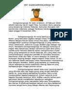 Biografi Sisingamangaraja XII