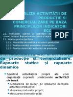 II. Analiza Activității de Producție Și Comercializare Pe Baza Principalilor Indicatori Economici