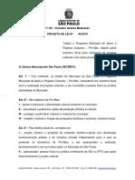Projeto de Lei Municipal de Incentivo a Cultura Andrea Matarazzo