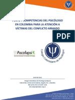 Colpsic Ascofapsi_Perfil y Competencias Atencion Victimas Conflicto-Documento_Julio 2015