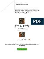 Ethics Inventing Right and Wrong by j l Mackie