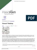 Manual Thinking _ Franc Ponti